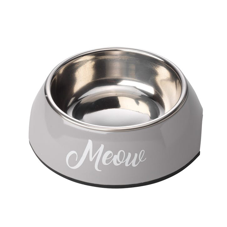 Meow 2 in 1 Cat Bowl, S, Grey