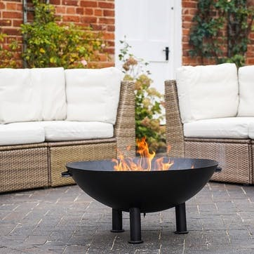 Heritage, Outdoor Firebowl, W72cm, Black