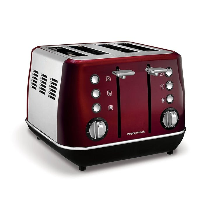 Evoke 4 Slice Toaster; Red