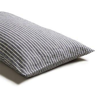 Pair of Standard Pillowcases Midnight Stripe