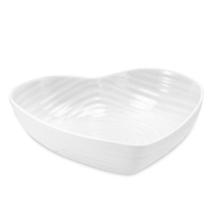 Heart Bowl - Large; White