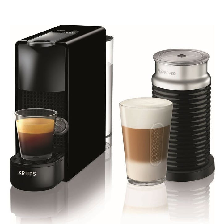 Essenza Mini Coffee Machine with Milk Frother, Black