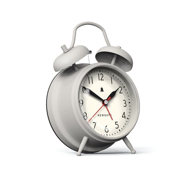 The New Covent Garden Alarm Clock, Dia. 11.7cm, Overcoat Grey