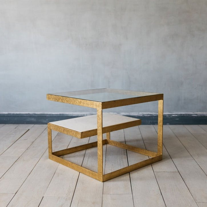 Estere Gold Marble Coffee Table