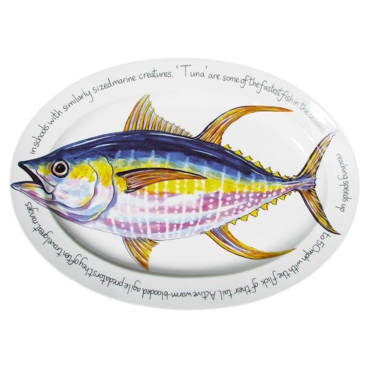 Yellowfin Tuna Oval Plate - 39cm