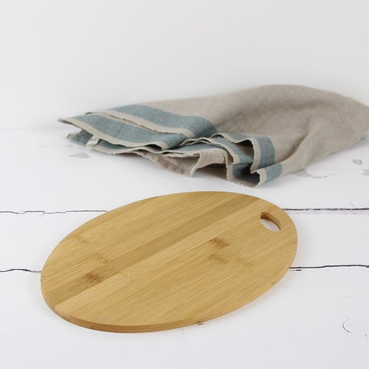 Oval Shaped Bamboo Serving Board