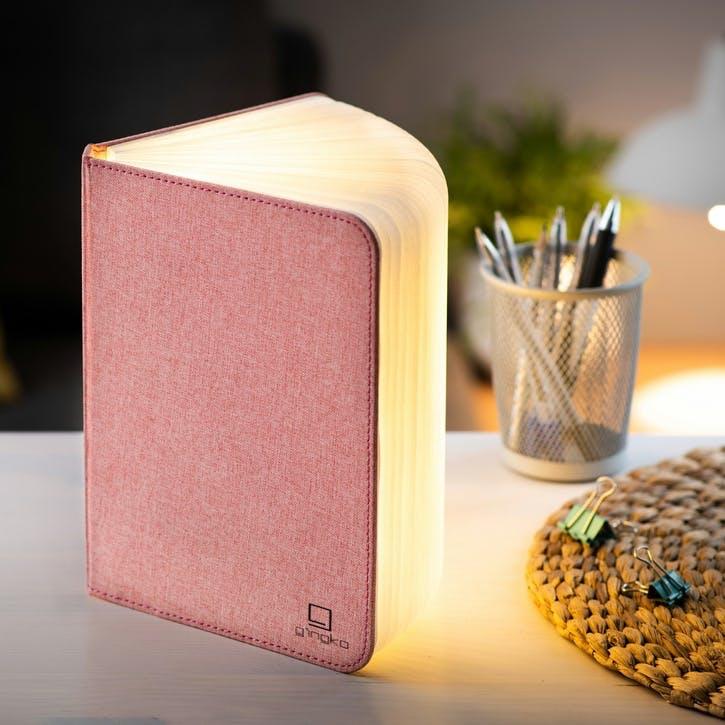 Linen Book Light, Large, Blush Pink