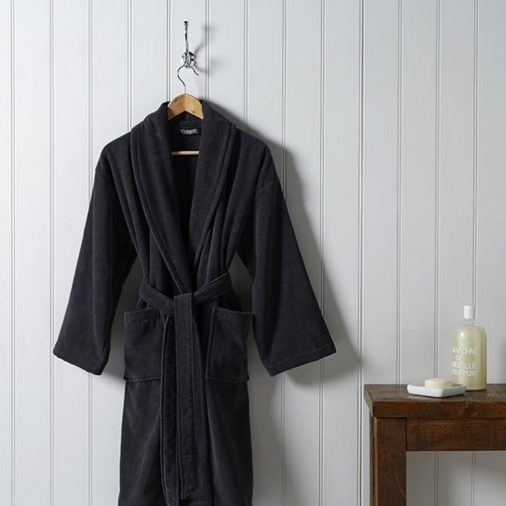 Supreme Supima Hygro Graphite Small Bath Robe