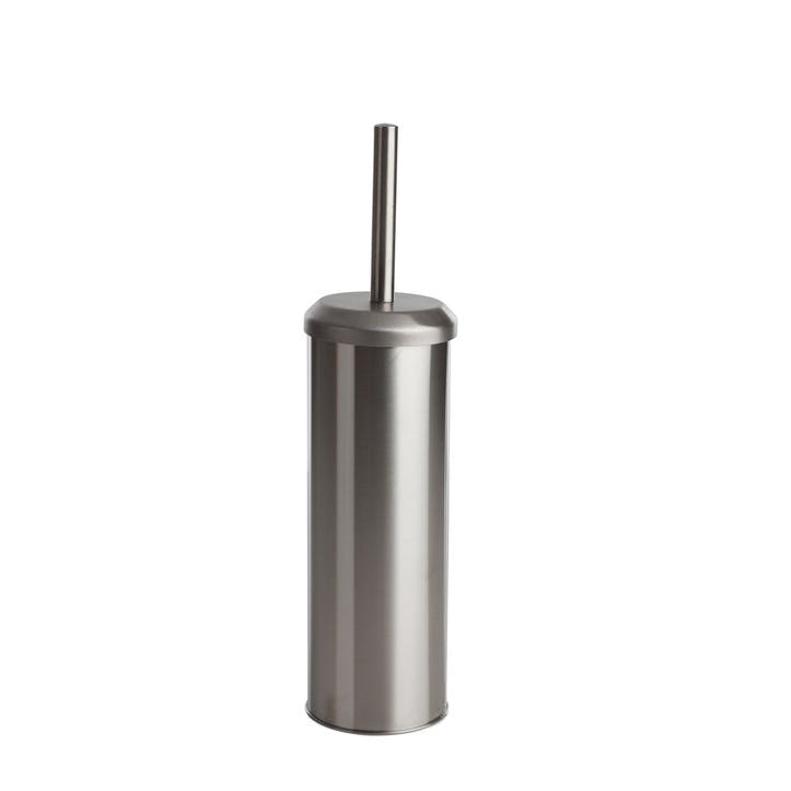 Toilet Brush; Brushed Stainless Steel