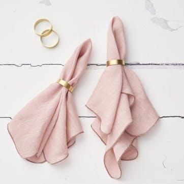 Jewel Linen Napkin, Blush