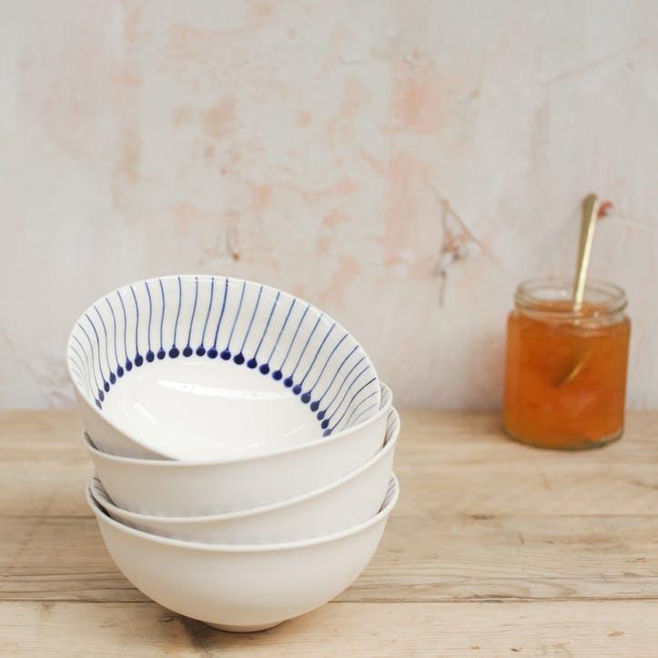 Iba Ceramic Bowl - Large; Indigo