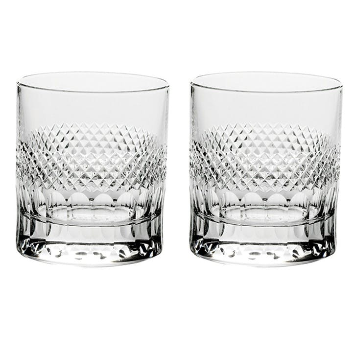 Diamonds Large Crystal Tumblers, Set of 2
