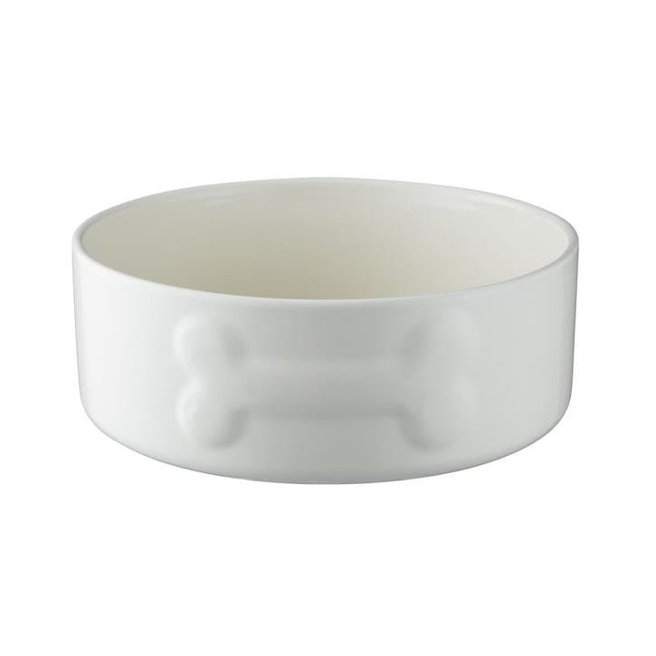 Colour Mix Dog Bowl, Cream