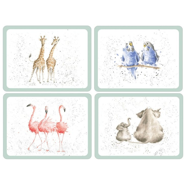 Wrendale Zoological Large Placemats, Set of 4