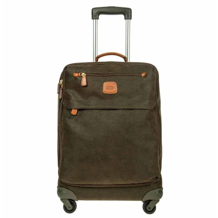 Life Lightweight Spinner Suitcase, 55cm; Olive