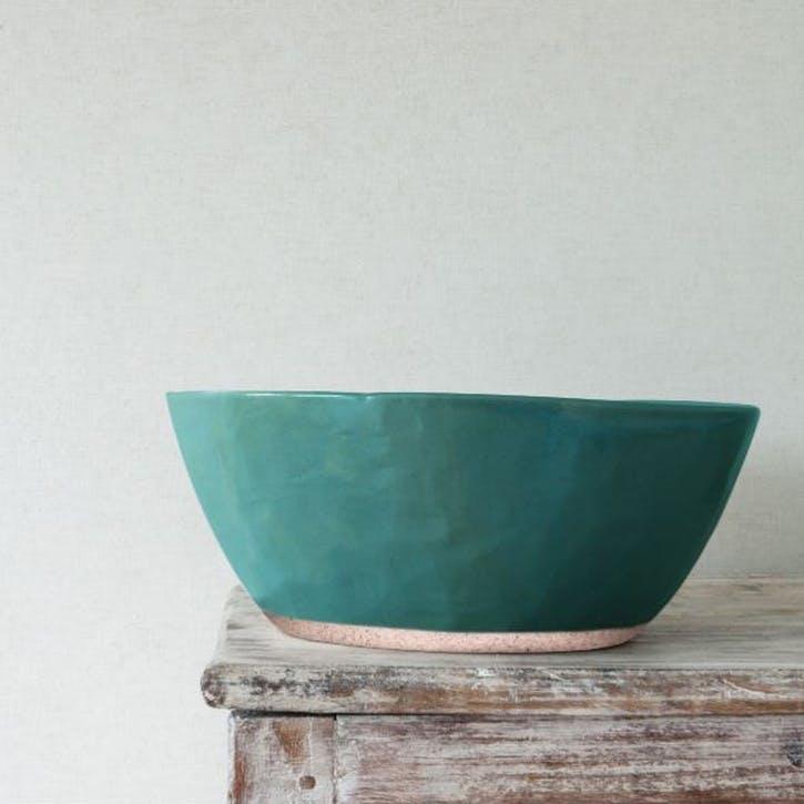 Organic Serving Bowl - Large; Teal