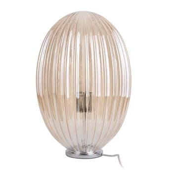 Glass Table Lamp, Amber