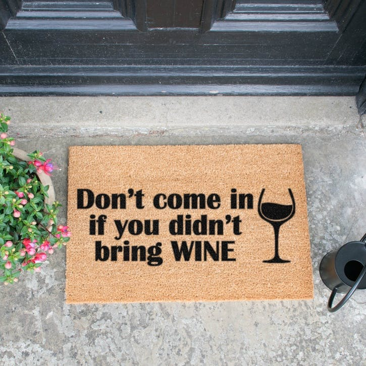 Without Wine Doormat