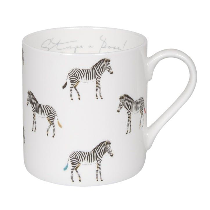 'Stripe a Pose' Zebra Mug, Large