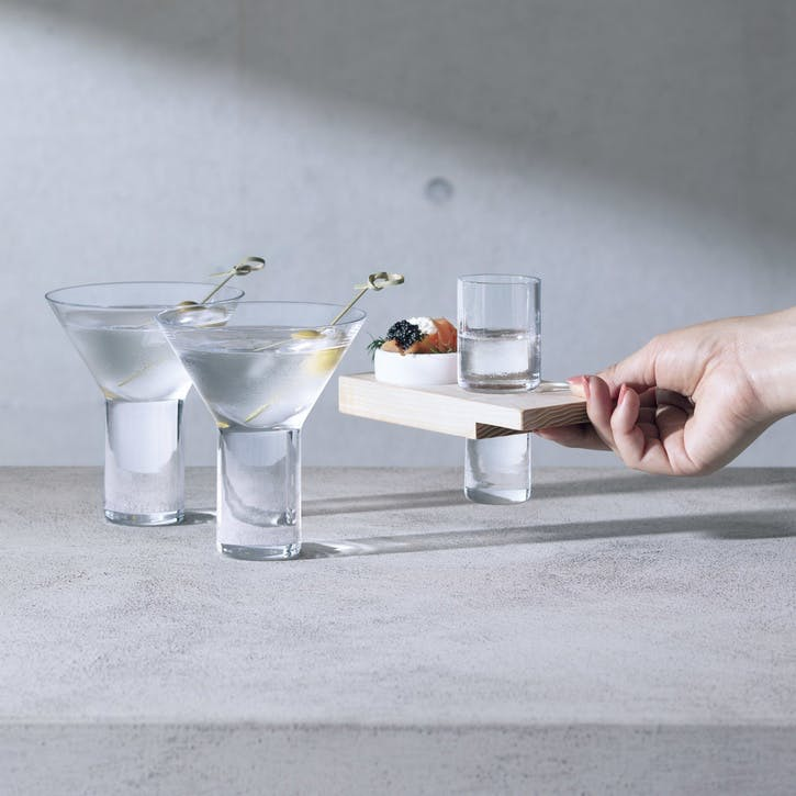Vodka Solo Shot Glass Serving Set