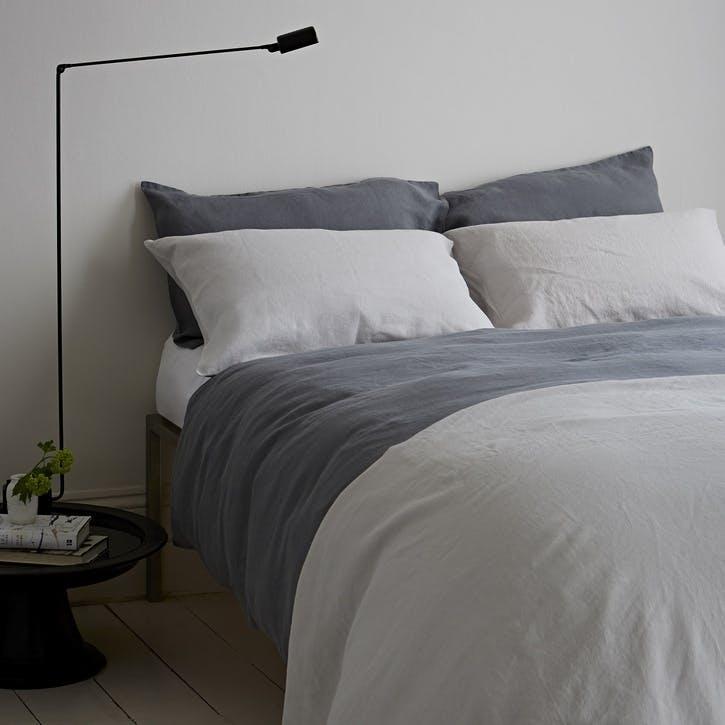 Lens Oxford Pillowcase, Single, Charcoal