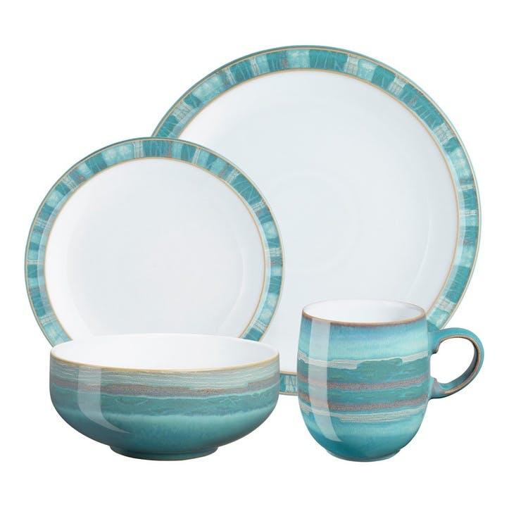 Azure Coast Tableware Set, 16 Piece