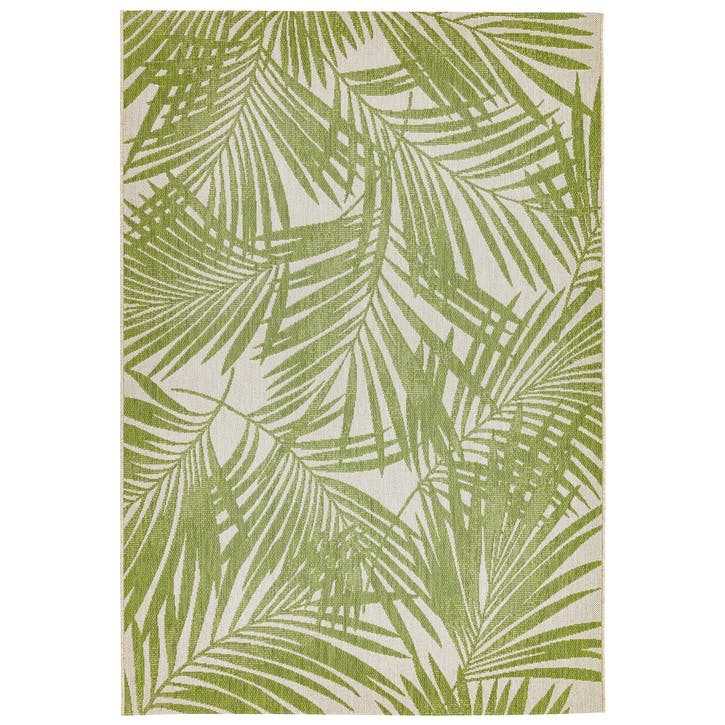 Patio Rug, 0.8 x 1.5m, Green Palm