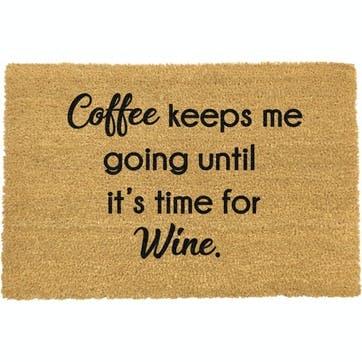 Coffee Keeps Me Going Doormat