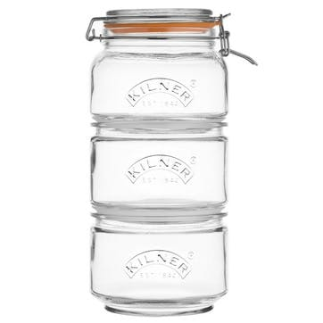 Stackable Storage Jar Set