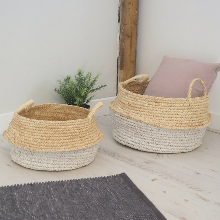 Seagrass Belly Baskets - Set of 2