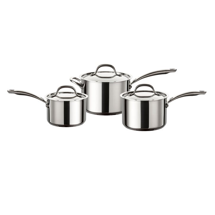 Ultimum Stainless Steel 3 Piece Saucepan Set