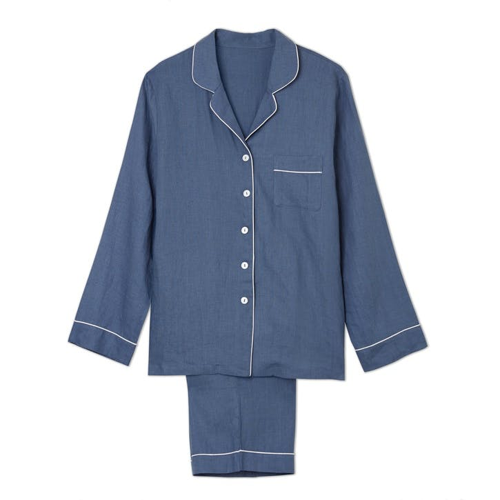 Blueberry Linen Pyjama Set, Large