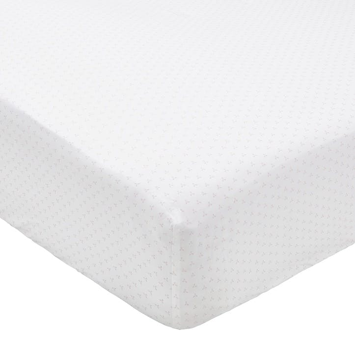 Tua Double Fitted Sheet, Blush