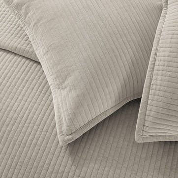 Amara, Large Square Cushion Cover, Putty
