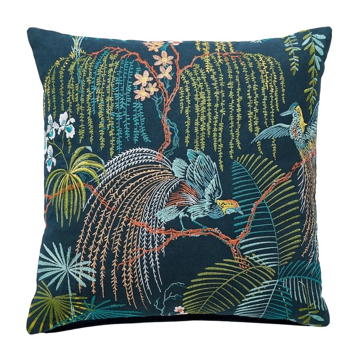Palm House Cushion, Indigo