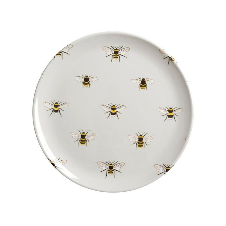 'Bees' Melamine Side Plate