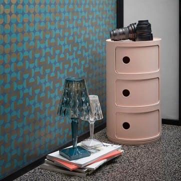 Componibili, 3 Door Cabinet, Pink