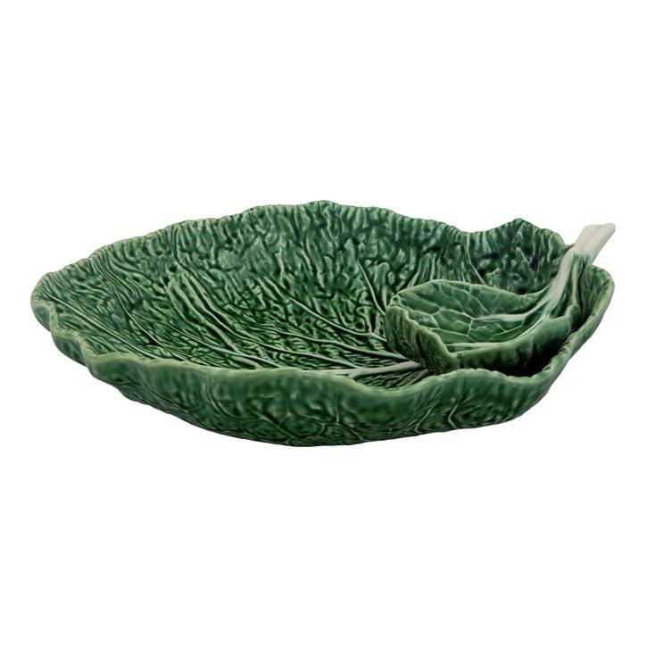 Cabbage Leaf Bowl, 34cm, Green