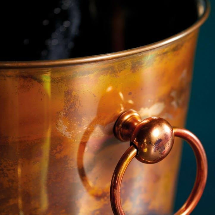 Iridescent Copper Champagne Bucket