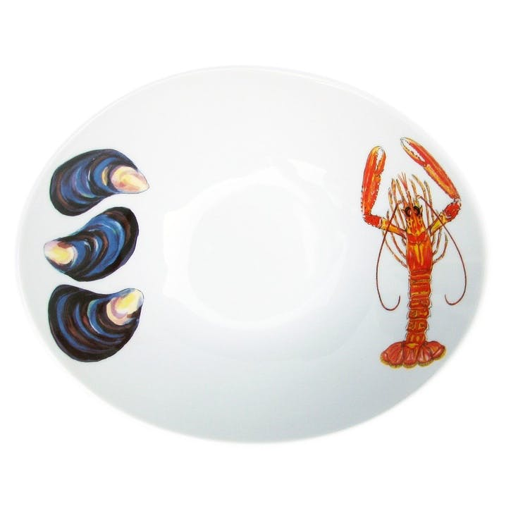 Langoustine & Mussels Oval Bowl - 18cm