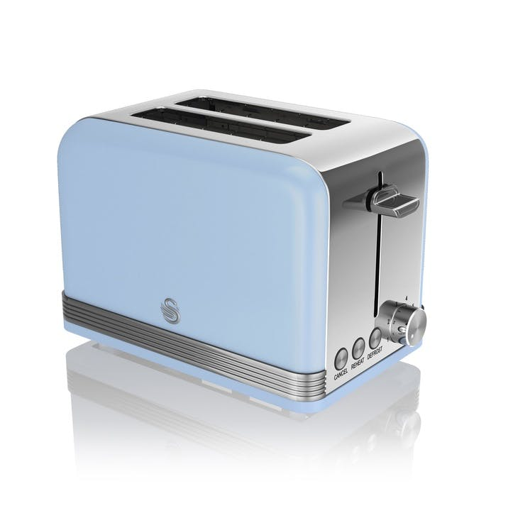 Retro 2-Slice Toaster, Blue