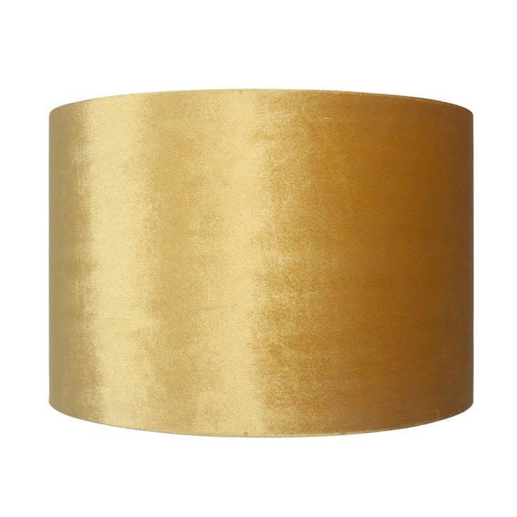 Velvet Cylinder Shade - 25cm; Mustard