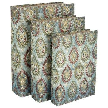 Ottoman Box Files, Set of 3