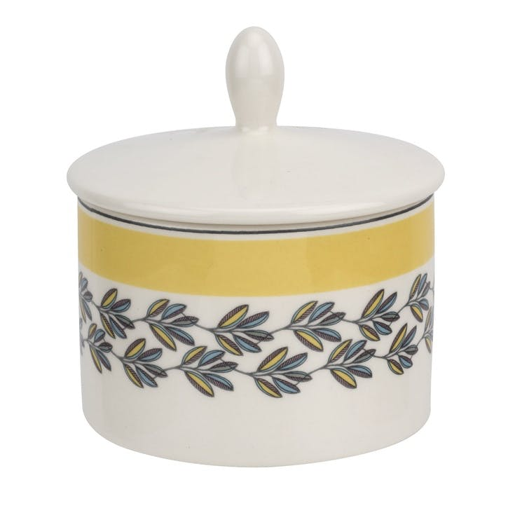 Westerly Covered Sugar Pot; Yellow Band