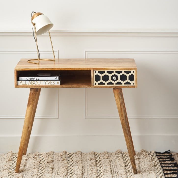 Bone Inlay Writing Desk/Console