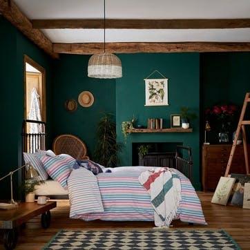 Lost Garden Stripe King Duvet Set, Multi