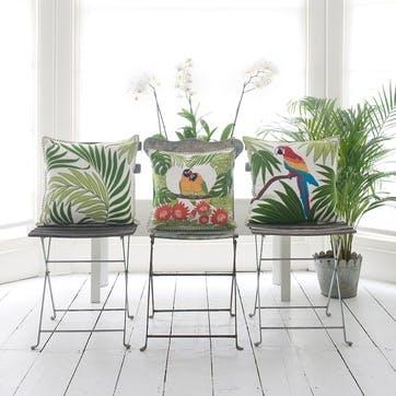 Tropical Love Birds Cushion, 46 x 46cm, Cream