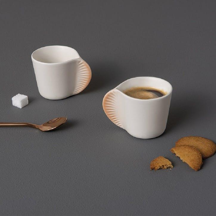 Morphose Coffee Cup, Set of 2, Coral