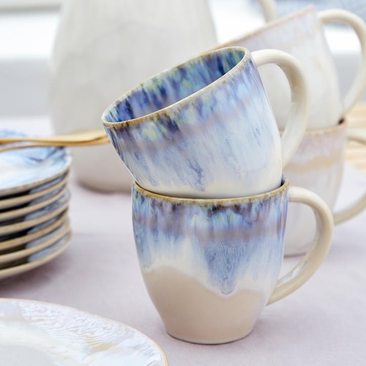 Brisa Blue Mugs, Set of 6
