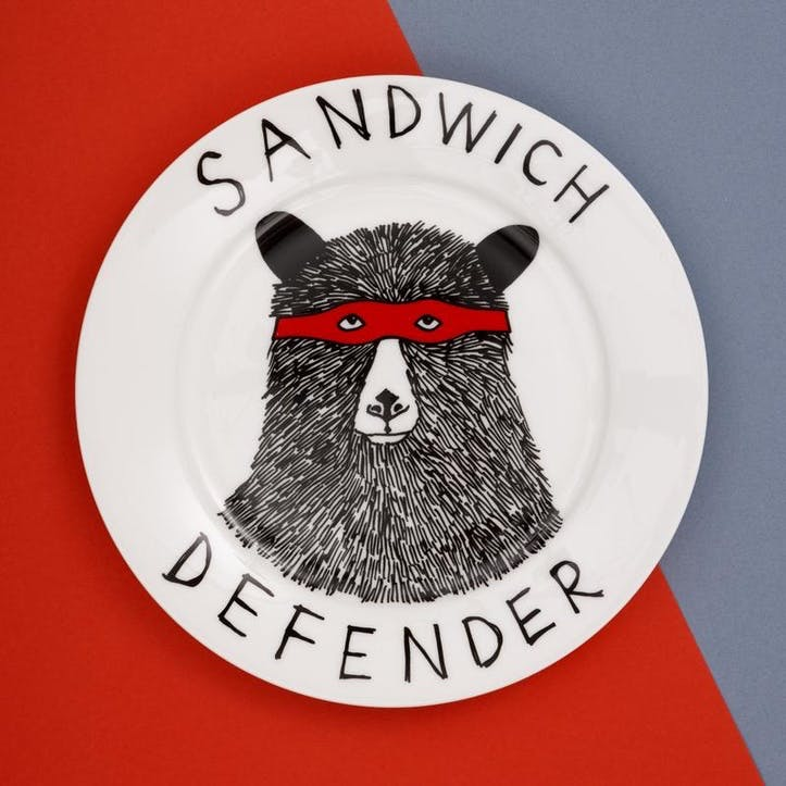 'The Sandwich Defender' Side Plate